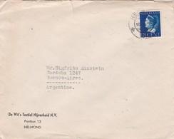 1960'S NETHERLANDS COMMERCIAL COVER- DE WIT'S TEXTIEL NIJVERHEID NV. CIRCULEE TO ARGENTINE- BLEUP - 1949-1980 (Juliana)