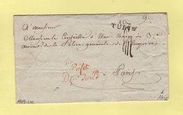 Turin - 104 - 1809 - Prefet Departement Du Po - Franchise - Departement Conquis - Sans Correspondance - 1792-1815: Conquered Departments