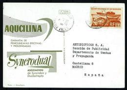 St. Pedro Y Miquelón - Postal Circulada A Madrid (año 1958) - St.Pierre & Miquelon