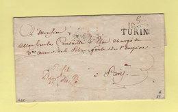 Turin - 104 - Prefet Departement Du Po - Franchise - Departement Conquis - Sans Correspondance - 1792-1815: Conquered Departments