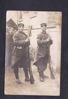 Carte Photo Guerre 14-18 Poilus Baionnette 85 85è Regiment Infanterie Dont Jean Louis Moreau Cachet Belloy Donzy Nievre - Guerra 1914-18