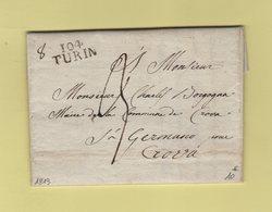 Turin - 104 - 1813 - Departement Conquis Du Po - 1792-1815: Conquered Departments