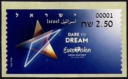 "ISRAEL 2019 - ""Eurovision 2019"" Song Contest In Tel Aviv - Philatelic Bureau ATM # 001 Label - MNH - Music"