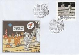 APOLLO 11 - Illustré TINTIN Bienvenue M. Amstrong, Premier Pas De L'homme Sur La Lune, France 2019 - Europa