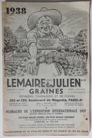 Rare Et Ancien Catalogue Lemaire Et Julien Graines Potagères Fourragères Et De Fleurs 1938 Jardinage Complet Et Relié - Garden