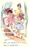 Fantaisie - Illustrateurs - Germaine Bouret - Moi Les Chapeaux, Je Les ............... - C 8001 - Altre Illustrazioni