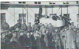 K.B. Inf.Regt.Nr.10 -  Soldaten Englischer Jagdflugzeug Mit Maschinengewehr    Allemande Carte   (1914-1918) Metz - Guerre 1914-18