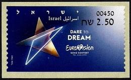 "ISRAEL 2019 - ""Eurovision 2019"" Song Contest In Tel Aviv - Tel Aviv ATM # 450 Label - MNH - Music"