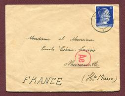 MARANVILLE  (52) : LETTRE D'ALLEMAGNE  1943 - 1921-1960: Modern Period