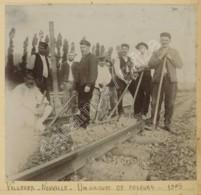 Albigny-sur-Saône . Un Groupe De Poseurs Près De La Gare De Villevert-Neuville . 1905 . Cheminots . - Lieux