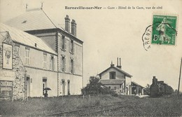 50 BARNEVILLE-SUR-MER - Gare - Hôtel De La Gare, Vue De Côté - Barneville