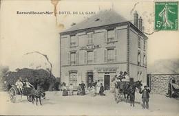 50 BARNEVILLE-SUR-MER - Hôtel De La Gare - Barneville