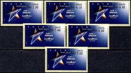 "ISRAEL 2019 - ""Eurovision 2019"" Song Contest In Tel Aviv - Set Of 6 Tel Aviv ATM # 450 Labels - MNH - Music"