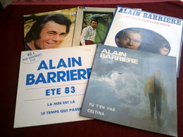 ALAIN  BARRIERE  °   COLLECTION DE 5 VINYLES - Colecciones Completas