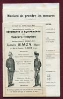 """SAPEURS-POMPIERS : """" VÊTEMENTS & EQUIPEMENTS """" 1910 - Publicités"""