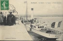 """50 CARTERET - Le Bateau """"Le Cygne"""" Arrivant De Jersey - Carteret"""