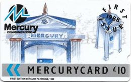 UK (Mercury) - First Issues Mercury - 5MERC - MER003B - 1988, 9.874ex, BIG NOTCH, Used - Reino Unido
