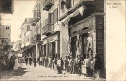 Cp Suez Ägypten, Rue Cassara, Straßenpartie In Der Stadt - Cartes Postales