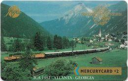 UK (Mercury) - Orient Express 7 - ICA 1992, Atlanta, Georgia - 20MERC - MER355 - 2.500ex, Used - Reino Unido