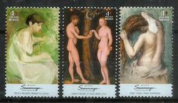 Nus Célèbres Des Grands Artistes:  Berthe Morisot,Edgar Degas,Lucas Cranach.  3 Timbres Neufs **  MEXIQUE - Aktmalerei