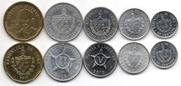 Cuba - Set 5 Coins 1 5 10 20 Centavos 1 Peso 1971 - 2013 AUNC / XF+ Lemberg-Zp - Cuba