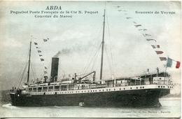 ABDA Paquebot Poste Française De La Cie N. Paquet Courrier Du Maroc - Paquebots