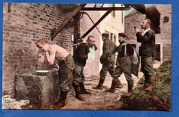La Toilette  -  Armée Allemande - Guerre 1914-18