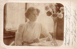 FOTOCARTOLINA-DONNA-SUISSE VIAGGIATA 1910 - Fotografia