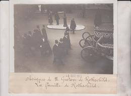 OBSEQUES DE M GUSTAVE DE ROTHSCHILD LA FAMILLE  1911  18*13CM Maurice-Louis BRANGER PARÍS (1874-1950) - Personalidades Famosas