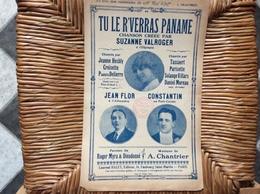 TU LE R' VERRAS PANAME *Jean Flor *Constantin  CHANSON A L'OLYMPIA - Scores & Partitions