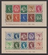 GREAT BRITAIN 2002 New Wilding Definitives: Set Of 2 Miniature Sheets UM/MNH - Blocchi & Foglietti