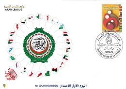 DZ Argelia FDC 1729 Banderas Liga Arabe Mundo Arabe - Sobres