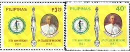 Ref. 313296 * MNH * - PHILIPPINES. 1982. 75 ANIVERSARIO DEL COLEGIO DE MEDICINA - Médecine