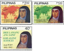 Ref. 313301 * MNH * - PHILIPPINES. 1982. SANTA TERESSA DE AVILA - Religions