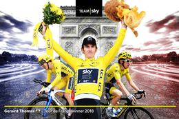 CARTE CYCLISME GERAINT THOMAS VAINQUEUR TOUR DE FRANCE 2018 - Ciclismo