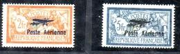 POSTE AERIENNE MERSON PA1 ET 2 NEUFS* CHARNIERES SIGNE CALVES COTE YT 500E - 1927-1959 Mint/hinged