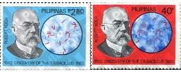 Ref. 313306 * MNH * - PHILIPPINES. 1982. ROBERT KOOH - DECUBRIDOR DEL BACILIO DE LA TUBERCULOSIS - Médecine