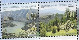 BOSNIA SERB, 2019, MNH, NATURE PROTECTION, MOUNTAINS, LAKES, LANDSCAPES, 2v - Geology