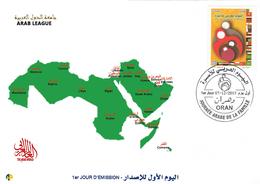 DZ Algeria FDC 1729 Geography Arab League Arab World - Geography