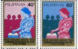 Ref. 313325 * MNH * - PHILIPPINES. 1983. VOTO FEMENINO - Filipinas