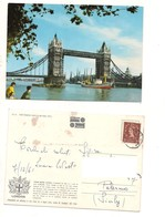M8984 GRAN BRETAGNA LONDON STAMP 1961 VIAGGIATA - River Thames