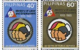 Ref. 313326 * MNH * - PHILIPPINES. 1983. MINISTERIO DE TRABAJO - Philippines