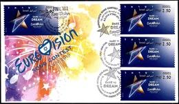 "ISRAEL 2019 - ""Eurovision 2019"" Song Contest In Tel Aviv - Philatelic Bureau ATM # 001 Label - 4 Special Postmarks Cover - Music"