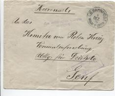 3231/ Stampless Cover (Heeressache) B.Bahnpost 1/12/15 > Genf Red Cross Censored Aus Militärischen Grunden Verzögert - Lettres & Documents