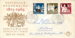 Netherlands 1963 FDC 150th Anniversary Of Independence - Storia