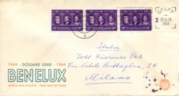 Netherlands 1964 FDC 20th Anniversary Of The Customs Union BENELUX - Idee Europee