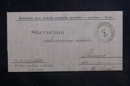 TCHÉCOSLOVAQUIE - Lettre De Prague En 1890 , à Voir - L 36272 - Tchécoslovaquie