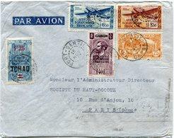 A. E. F. LETTRE PAR AVION DEPART PORT-GENTIL 18 NOV 37 GABON POUR LA FRANCE - Brieven En Documenten