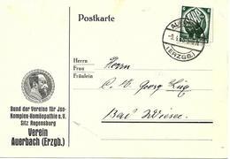 Publicite De Auerbach (Erzgb.) 1935 Sur Carte Postal - Deutschland