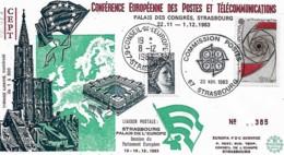 France Conseil De L'Europe1983 Conférence Européenne Des Postes Et Télécommunications CEPT,  1 Enveloppe - Francia